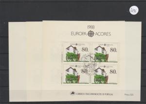 Portugal    Azoren    Block gestempelt     3x MiNr. Block 9