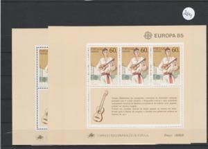 Portugal    Madeira     Block postfrisch    3x MiNr. Block 6