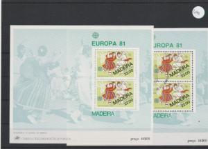 Portugal   Madeira    Block   1x postfrisch und 1x gestempelt    MiNr. Block 2