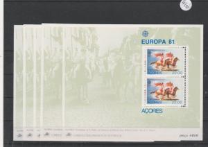 Portugal    Azoren     postfrisch **    5x  MiNr. Block 2