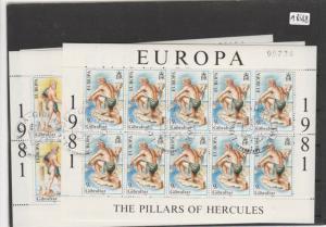 Gibraltar     Kleinbogen  gestempelt     2x   MiNr. 416-417