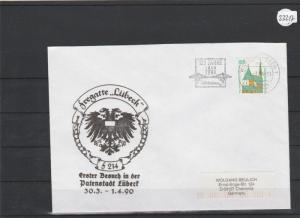 Briefumschlag mit Schiffsstempel      Fregatte Lübeck      1990 in Lübeck