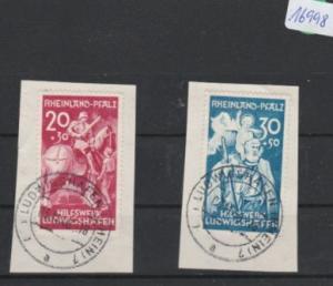Alliierte Besetzung  Rheinland-Pfalz  gestempelt      MiNr. 30-31