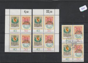 BRD    4x  postfrisch   **    und  2x  gestempelt   MiNr. 980-981