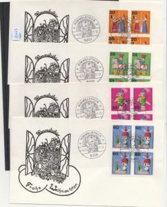 BRD    4er Block  auf Brief    MiNr. 705-708