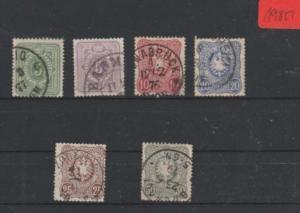 Deutsches Reich      gestempelt     MiNr. 31-36