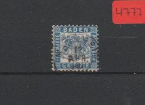 Altdeutschland  Baden   gestempelt     MiNr. 19