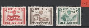 Österreich    ungebraucht mit Falz*     MiNr. 1014-1016