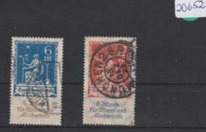 Deutsches Reich     gestempelt    MiNr. 233-234       geprüft  INFLA