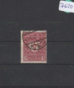 Deutsches Reich     gestempelt    MiNr. 199 d        geprüft INFLA