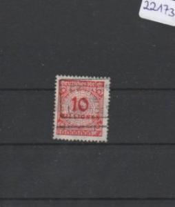 Deutsches Reich     gestempelt    MiNr. 318       geprüft INFLA