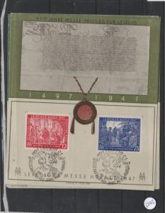 Alliierte Bestzung     gestempelt auf Sonderkarte    MiNr. 965-966