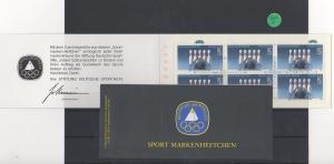 BRD  Sport   Markenheft  postfrisch  mit  6x MiNr. 1238
