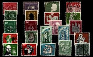 BUND Jahrgang 1956 kpl. gestempelt ME 65.- (94339)