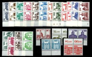 BUND Lot Burgen PAARE postfrisch ME 75.- (94095)