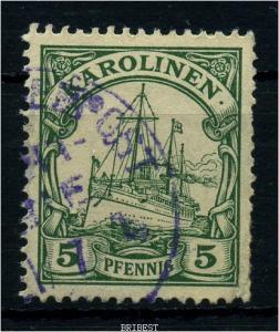 KAROLINEN 1900 Nr 8 mit Seepoststempel!!! (88112)