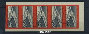 DDR 1960 Nr 805B 5er Streifen gestempelt (85893)