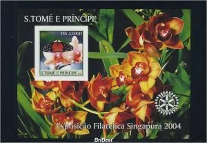 S.TOME 2004 Block Motiv SCHMETTERLINGE postfr. (85140)
