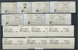 FINNLAND 1992 ATM Nr 12.3 ZS2 postfrisch ME 50.- (77653)
