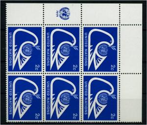 UNO NEW YORK 1974 Nr 269 - 6er Block postfrisch (73557)