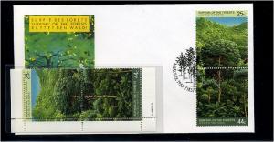 UNO NEW YORK 1988 Nr 547-548 Paar und FDC (73619)