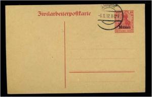 ETAPPE WEST 1916 Ganzsache P6I gestempelt (60240)