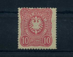 DEUTSCHES REICH 1880 Nr 41abB ungeb./Falz gepr Wiegand BPP (63999)