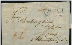 Brief 1854 mit R3 BERLIN STADPOSTEXPED. (51606)