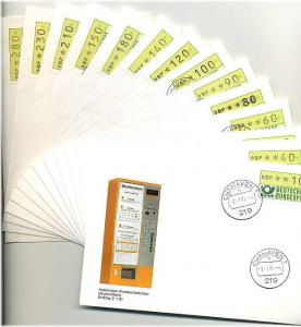 BUND 1981 ATM Nr 1 TS1 kpl auf 14 FDC ME 200.- (55455)