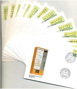 BUND 1981 ATM Nr 1 TS1 kpl auf 14 FDC ME 200.- (55465)
