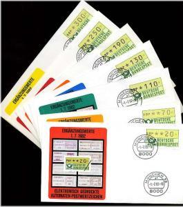 BUND 1981 ATM Nr 1 VS2 kpl auf 7 FDC ME 30.- (55479)