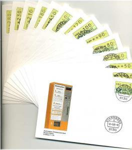 BUND 1981 ATM Nr 1 TS1 kpl auf 14 FDC ME 200.- (55460)