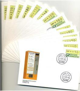 BUND 1981 ATM Nr 1 TS1 kpl auf 14 FDC ME 200.- (55456)