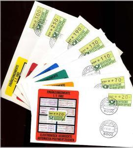 BUND 1981 ATM Nr 1 VS2 kpl auf 7 FDC ME 30.- (55474)