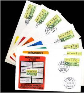 BUND 1981 ATM Nr 1 VS2 kpl auf 7 FDC ME 30.- (55481)
