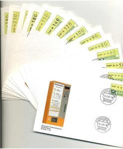 BUND 1981 ATM Nr 1 TS1 kpl auf 14 FDC ME 200.- (55461)