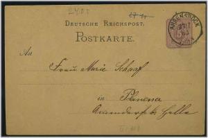 Ganzsache 1880 mit K1 AHRENSBOEK (51944)