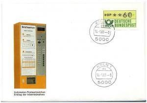 BUND 1981 ATM Nr 1 Versuchsstandort FDC ME 20.- (55490)