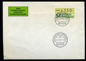 BUND 1981 ATM Nr 1 FDC Versuchsstandort FFM (55207)