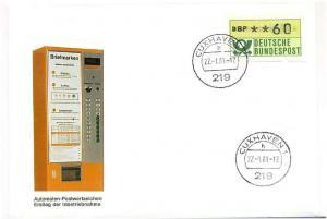 BUND 1981 ATM Nr 1 Versuchsstandort FDC ME 14.- (55486)