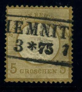 DEUTSCHES REICH 1872 Nr 22 sauber gestempelt ME 60.- (43845)