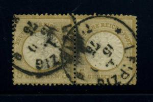 DEUTSCHES REICH 1872 Nr 22 PAAR sauber gestempelt (43813)