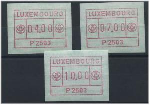 LUXEMBURG 1983 ATM Nr 1.3 Satz postfrisch (37762)