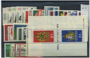 BUND 1973 Jahrgang kpl postfrisch ME 35.- (44631)