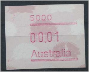 AUSTRALIEN ATM Nr 9 postfrisch mit Plattenfehler (47337)