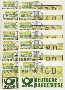 BUND 1981 ATM Nr 1.1hu VS 1 je auf Maximumkarte (46874)