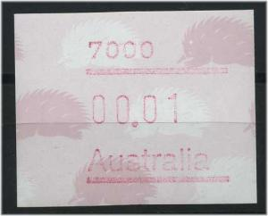 AUSTRALIEN ATM Nr 9 postfrisch mit Plattenfehler (47334)