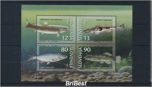 SLOWENIEN 1997 Block FISCHE postfrisch (85293)