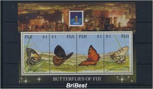 FIJI 1994 Block Motiv SCHMETTERLINGE postfr. (85162)