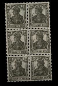 DEUTSCHES REICH 1916 Nr 98x 6er Block postfrisch ME 42.- (95273)